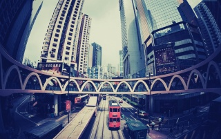Hong Kong Fisheye Photo wallpapers and stock photos