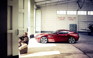 2012 Red BMW Zagato Coupe wallpapers and stock photos