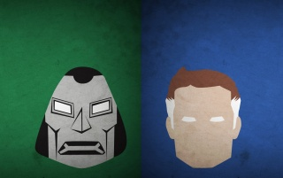 Dr. Doom and Mr. Fantastic wallpapers and stock photos