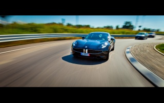 2012 Fisker Karma Motion-Front- wallpapers and stock photos