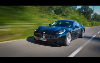 2012 Fisker Karma Motion-Front Angle wallpapers and stock photos
