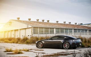 Gray Aston Martin V8 Vantage wallpapers and stock photos