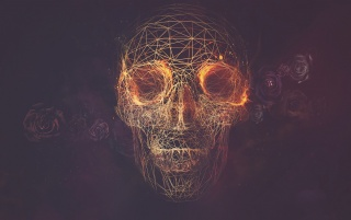 Wires Skull Artwork wallpapers and stock photos