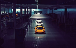 McLaren MP4-12C Assembly Line wallpapers and stock photos