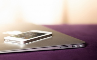White iPhone and Macbook Air wallpapers and stock photos