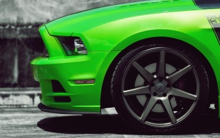 Green Shelby Mustang wallpapers and stock photos
