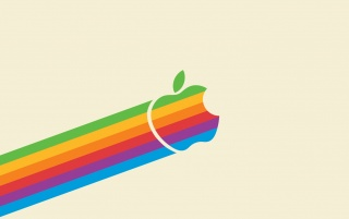 Vintage Apple Logo wallpapers and stock photos