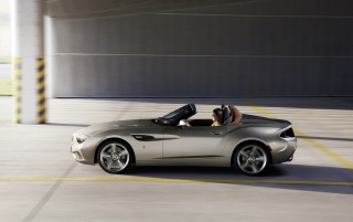 2012 BMW Zagato Roadster Side Motion wallpapers and stock photos