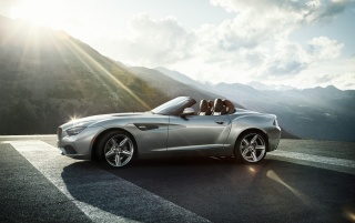 2012 BMW Zagato Roadster Side Static wallpapers and stock photos