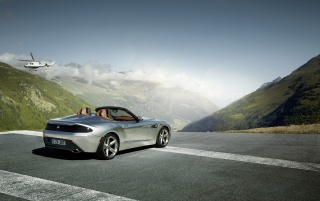 2012 BMW Zagato Roadster Rear Angle Static wallpapers and stock photos