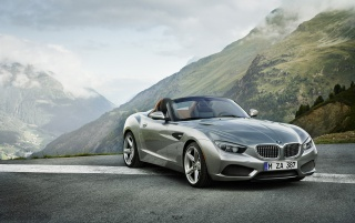 2012 BMW Zagato Roadster Front Angle Static wallpapers and stock photos