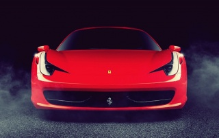 Red Ferrari 458 Italia Front wallpapers and stock photos
