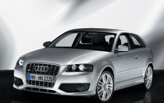 Audi S3 front wallpapers and stock photos