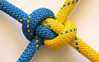 Blue and Yellow Knot wallpapers and stock photos