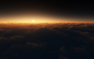 Sun Over the Clouds wallpapers and stock photos