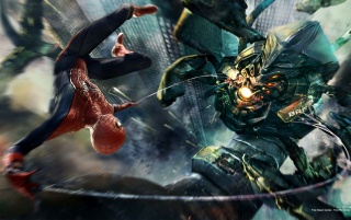 Amazing Spider Man Boss Fight wallpapers and stock photos