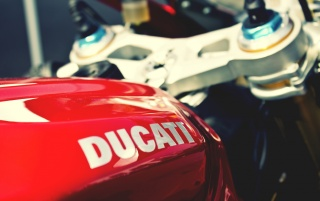 Red Ducati Bike Close-up wallpapers and stock photos