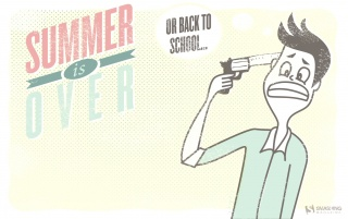Summer Is Over wallpapers and stock photos