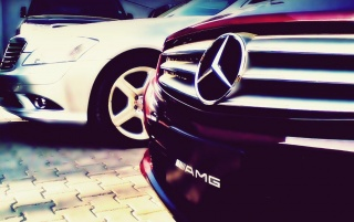 Mercedes AMG Grill wallpapers and stock photos