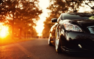 Infiniti G37 Autumn Sun wallpapers and stock photos