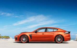 2012 TopCar Porsche Panamera Stingray GTR Orange Static Side wallpapers and stock photos