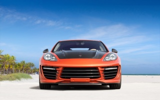 Random: 2012 TopCar Porsche Panamera Stingray GTR Orange Static Front