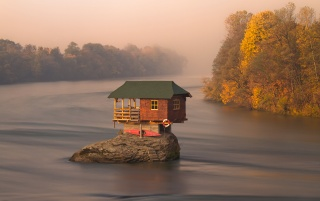 house-river-serbia wallpapers and stock photos