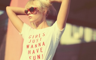 Girls Just Wanna Have Fun wallpapers and stock photos