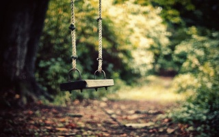 Swing in the Garden wallpapers and stock photos