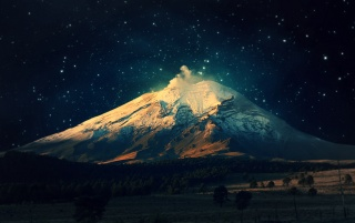 Snowy Mountain Starry Sky wallpapers and stock photos