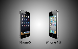 iPhone 5 vs Iphone 4s wallpapers and stock photos
