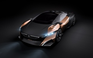 2012 Peugeot Concept Studio Onyx Front Angle wallpapers and stock photos