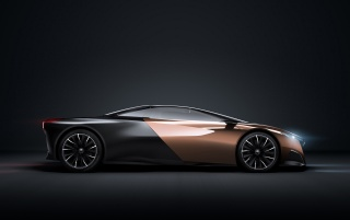 2012 Peugeot Concept Studio Onyx Side wallpapers and stock photos