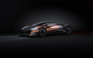 2012 Peugeot Onyx Concept Studio Side Angle wallpapers and stock photos