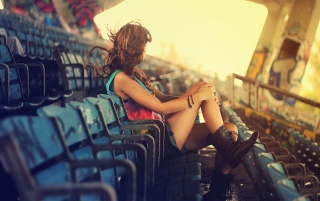Girl with Black Boots wallpapers and stock photos