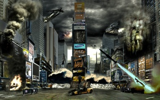 Times Square Disaster wallpapers and stock photos