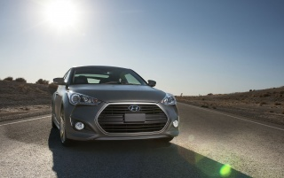 Matte Gray Hyundai Veloster wallpapers and stock photos