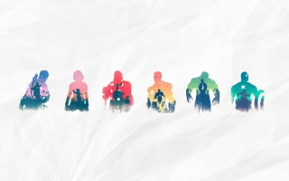 The Avengers Silhouettes wallpapers and stock photos
