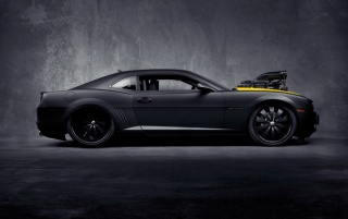 Matte Black Chevrolet Camaro SS wallpapers and stock photos