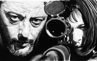 Jean Reno & Natalie Portman wallpapers and stock photos