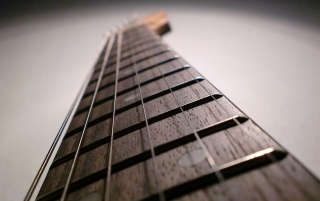 Random: Guitar Strings Close-up