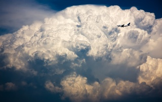 Plane in the sky wallpapers and stock photos