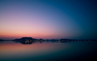 Lake Balaton Sunset wallpapers and stock photos
