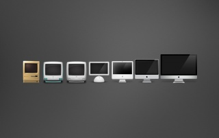 Macintosh Evolution wallpapers and stock photos