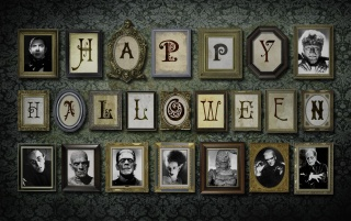 Halloween Wall wallpapers and stock photos