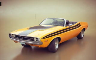 Dodge Challenger 3D Render wallpapers and stock photos