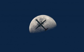 Aircraft and Moon wallpapers and stock photos