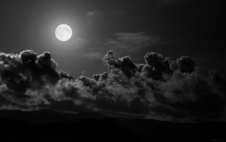Full Moon Monochrome wallpapers and stock photos