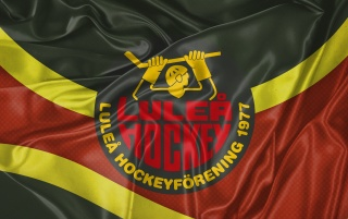 Lulea hockey retro flagga v2 wallpapers and stock photos