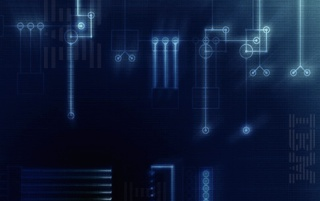 IBM blue circuits wallpapers and stock photos